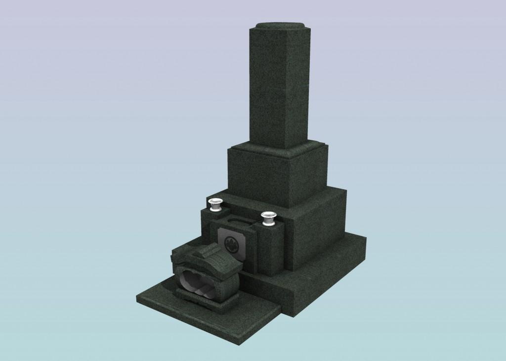 8寸角高級型墓石2