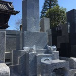 川崎市内のお寺で石塔の建立をしてきました