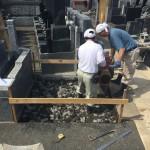 川崎市 多摩区登戸の寺院墓地、解体撤去に続いて基礎工事終了