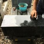 狛江市の寺院墓地。お墓工事もあと一息です!