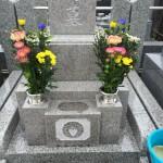 川崎市多摩区 小さめだけど想いのこもった石塔が完成し、お引渡し・ご納骨を終えてきました