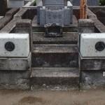 川崎市麻生区の墓地で、大谷石外柵の修繕をしてきました。