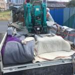 狛江市の寺院墓地 外柵の入荷と検品・下拵え。これで下準備完了。