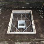 狛江市の寺院墓地 基礎コンクリート打設終了。