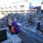 東京狛江市でお墓じまい。解体工事に入りました。