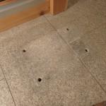 時にはこんな作業もやっています。川崎市立日本民家園で敷石の補修。