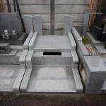 川崎市多摩区 外柵工事がほぼ仕上がりました。あとは石塔・墓誌ですね。