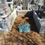 市営緑ヶ丘霊園 お墓の解体工事が終了です。