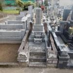 川崎市多摩区のお寺で、大谷石製外柵のリフォーム工事。