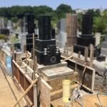 川崎市緑ヶ丘霊園でも大谷石外柵のリフォームです。