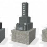 石塔と外柵の石の組み合わせについて。