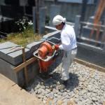 川崎市麻生区の墓で、石塔(墓石)・外柵工事に着工です。まずは基礎工事。