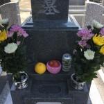 川崎市多摩区の墓地 墓所完成後のご納骨。そこでの嬉しいひと時。