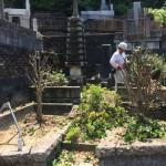 東京稲城市で、お墓のリフォーム開始です。