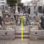 外柵(お墓)リフォームのお打合せに。川崎市多摩区の寺院墓地