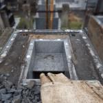 お墓の解体でわかること。川崎市多摩区の寺院墓地にて