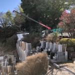 多摩区の寺院墓地でお墓が完成です。