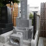 狛江市の寺院墓地で和型の石塔を建立しました