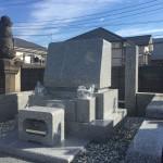 宮前区の共同墓地で石塔据付工事をしました。