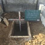 緑ヶ丘霊園の解体工事。こんな作業もやっています。