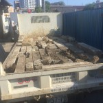 狛江市 お墓(外柵)のリフォーム工事二件。基礎工事まで完了です