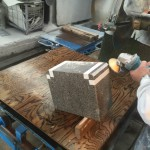 川崎市の寺院墓地 香炉の交換のため、新たに作製中です。