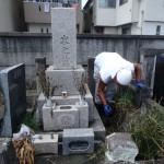 川崎市の寺院墓地 石塔の建立とお掃除を行いました