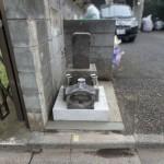 狛江で江持石製小石碑の移設工事。