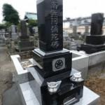 川崎市多摩区の寺院墓地 和型墓石を無事建立、お墓工事が完了です。