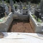 川崎市麻生区の寺院墓地で基礎工事を開始しました。