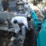 狛江市でのお墓工事 据え付けは順調に。視察ももちろん大歓迎です♪