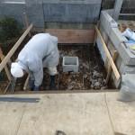 川崎市麻生区の新規墓地工事 基礎コンクリート打設が終了です。