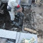 解体開始から終了まで。お墓の解体作業はこんな感じで進めていきます。東京狛江市のお墓解体工事