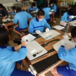 体験学習「技能職者に学ぶ」の講師として、川崎市内の中学校に行ってきました。