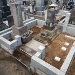 石塔新規建立のためのリフォーム作業。こういう機会だと少しお得なこともあります。川崎市多摩区の寺院墓地