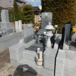 多摩区のお寺に、お墓の清掃と代理墓参に行ってきました。