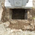 狛江市の共同墓地で、お墓のリフォーム工事をしました