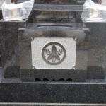 黒系御影石の石塔工事が終了しました。 川崎市多摩区の寺院墓地