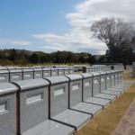 川崎市麻生区の早野聖地公園 壁面型墓所の新区画の様子を見てきました。