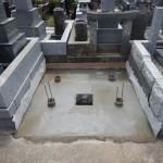 多摩区登戸の墓地外柵リフォーム。基礎工事まで終了しました。