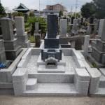 川崎市多摩区のお墓外柵リフォーム工事。すべて完了です。