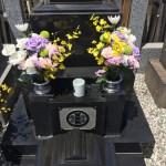 土曜・日曜と、多摩区の寺院墓地でご納骨のお手伝い