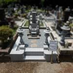 外柵リフォーム工事が完成。緑ヶ丘霊園の6㎡墓所。