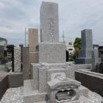 川崎市多摩区のお寺で、万成石の石塔が完成です。