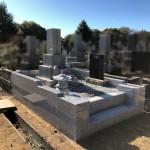 川崎市高津区 緑ヶ丘霊園での外柵工事が完成しました。