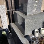 多摩区の墓地で、ご法事前のお墓クリーニング