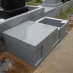 川崎市多摩区の寺院墓地にて新規墓所の工事中です。