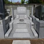 墓石・外柵工事が完了しました。川崎市多摩区の寺院墓地