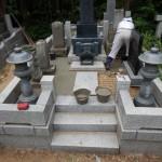 お墓の雑草対策などのリフォーム工事。川崎市多摩区の墓地
