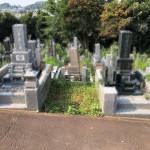 新規に二軒のお墓をつくります。まず基礎工事から。川崎市麻生区の寺院墓地